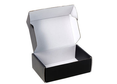 China Matte Black Printing Custom Gift Boxes With White E - Flute Corrugated Paper factory