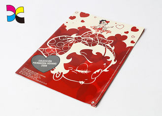 Matt Paper Custom Magazine Printing Full Color Red Subscription For People