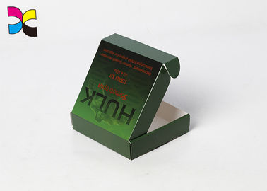 Green Offset Printing Corrugated Cardboard Boxes One Side Matte Lamination