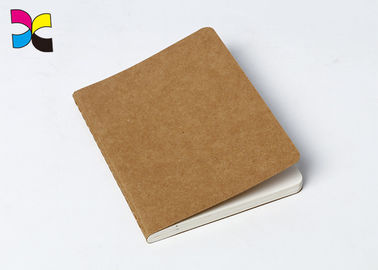 China A4 / A5 / A6 Kraft Paper Custom Printed Notebooks With Perfect Binding / Promotional Journals Notebooks factory