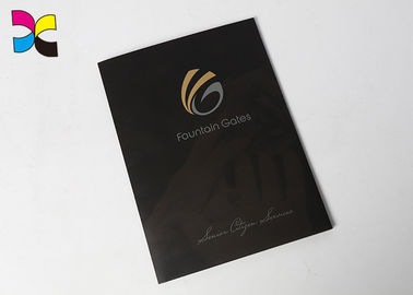China Eco Friendly Recycled File Folders , CMYK Color Hardcover Presentation Folder factory