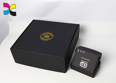 China Hot Stamping OEM Cosmetic Box Packaging / Black Cardboard Shipping Boxes factory