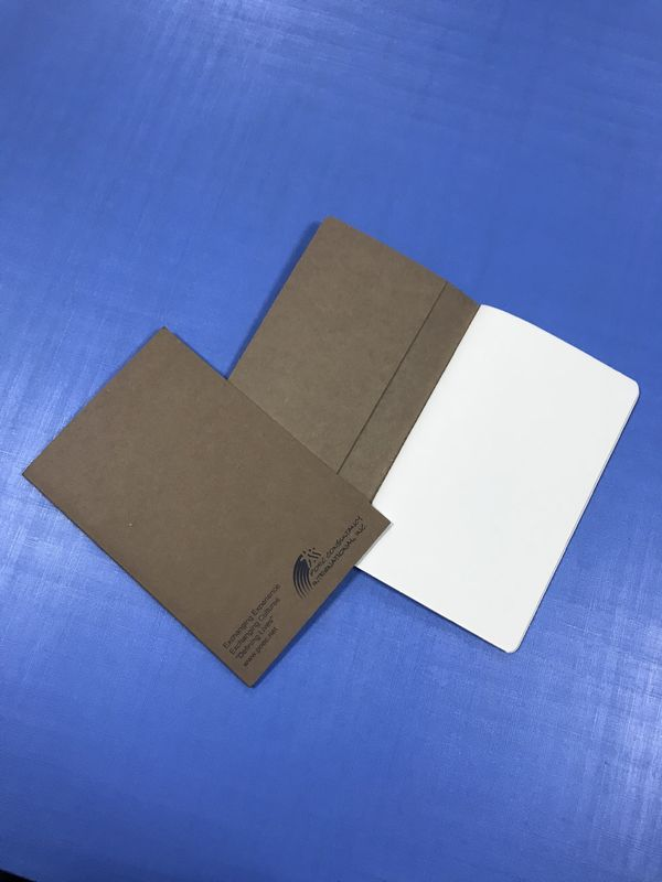 A4 A5 Journal Book Printing School Recycled Kraft Paper Cover Journal With Band supplier