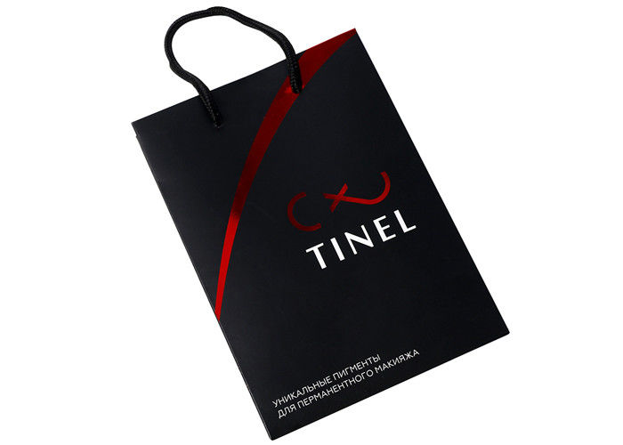 Small Size Offset Custom Printed Promotional Bags , Red Personalised Printed Carrier Bags supplier