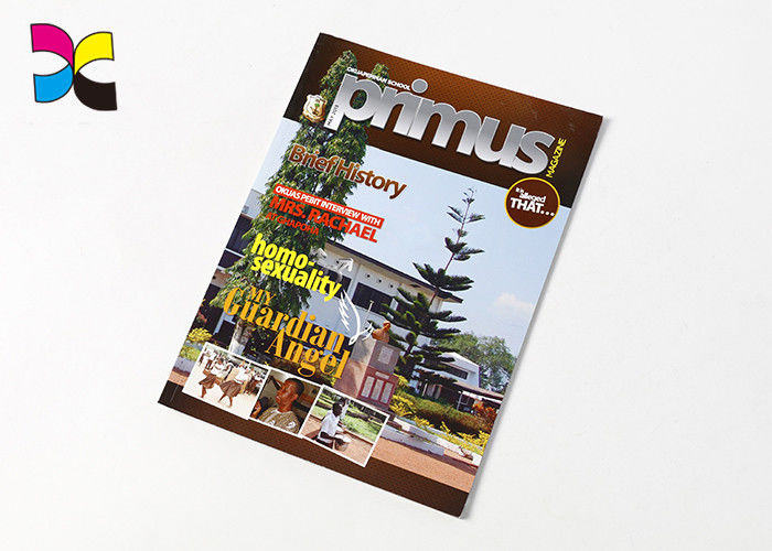 Perfect Binding Photo Magazine Printing , Glossy Artpaper Cover Magazine Cover Prints supplier