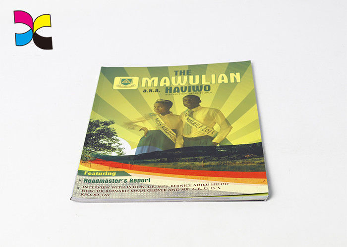 Glossy Lamination Paperback Book Printing Custom Color With Adhesive Binding
