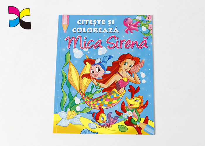 Varnishing Coloring Book Printing Services , Luxury Softcover Childrens Book Prints supplier