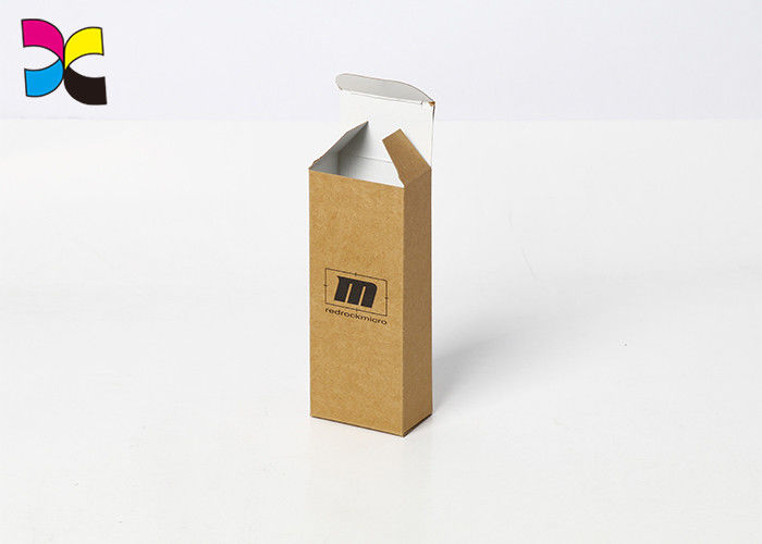Kraft Paper Custom Packaging Boxes Print Black Simple Rectangle Cigarette Electronics supplier