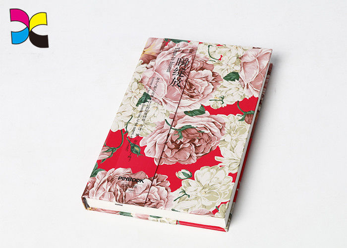 Flower Cover Custom Printed Notebooks 200 Pages Hot Stamping Matt Lamination supplier