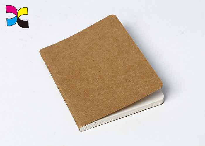 A4 / A5 / A6 Kraft Paper Custom Printed Notebooks With Perfect Binding / Promotional Journals Notebooks supplier