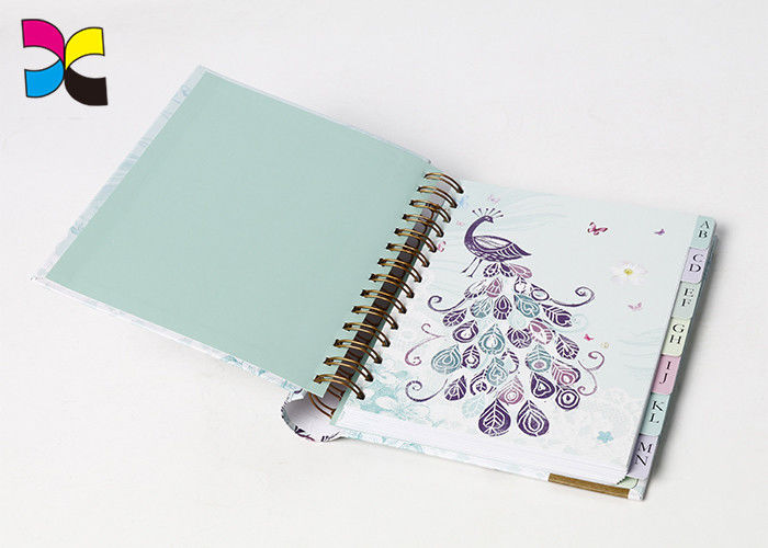 Eco - Friendly Custom Cover Wire - O Spiral Notebook Printing For Office & School supplier