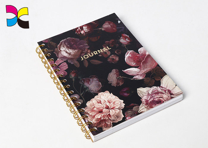 Coated Art Paper Spiral Notebook Printing Journey With Kraft Paper Back Cover supplier