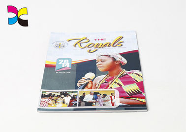 Full Color Quick Printing Magazine , Saddle Stitching Commercial Magazine Printing