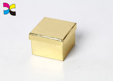Customized Paper Printed Cardboard Flat Folding Gift Box Golden Color Eco - Friendly