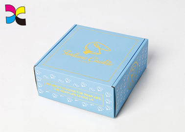 Corrugated Custom Packaging Boxes Thickness Shoe Golden Hot Stamping Surface