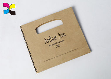 Economic Recycled Printed Paper Bags With Lamination / Varnishing Surface