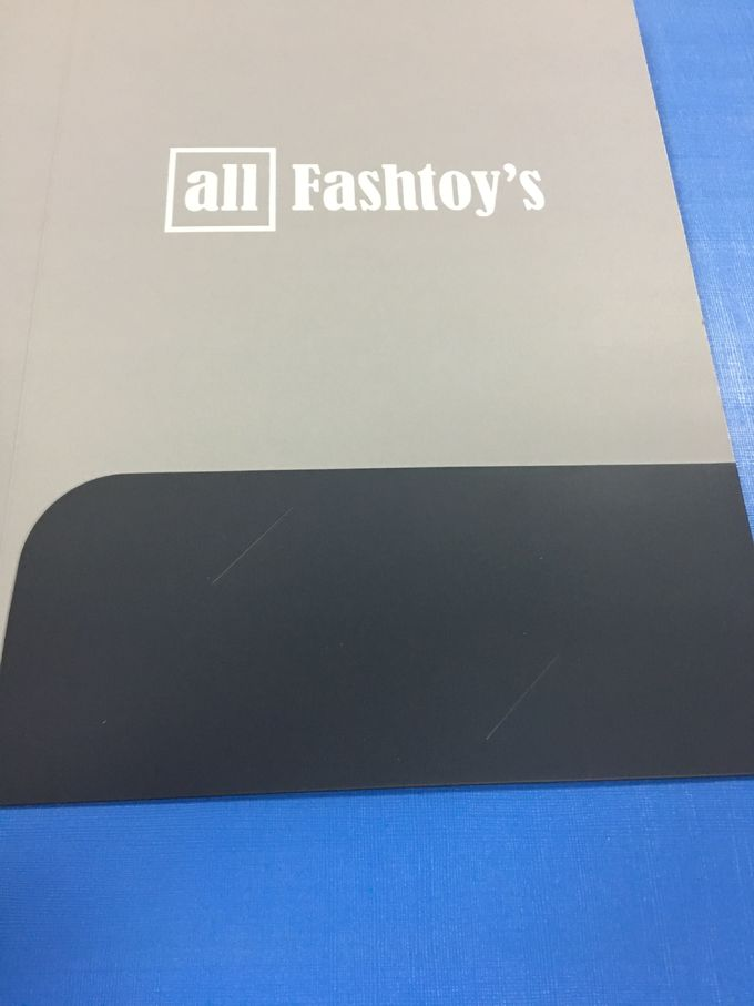 Offset Printed File Folders With Business Cards Slot 350g C1S Glossy Art Paper