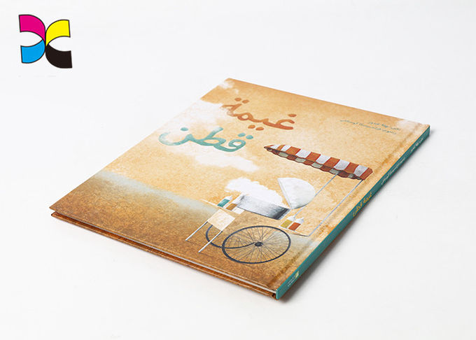 Full Color Book Binding Printing Services / Custom Hardcover Book Printing
