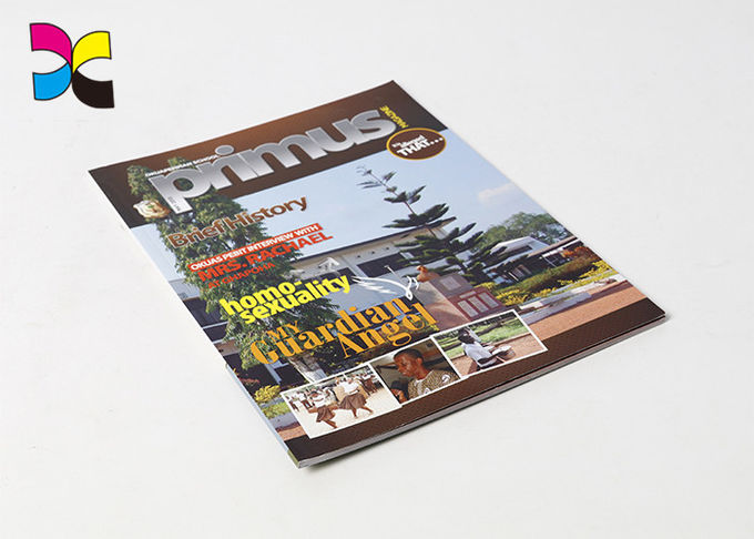 Perfect Binding Photo Magazine Printing , Glossy Artpaper Cover Magazine Cover Prints