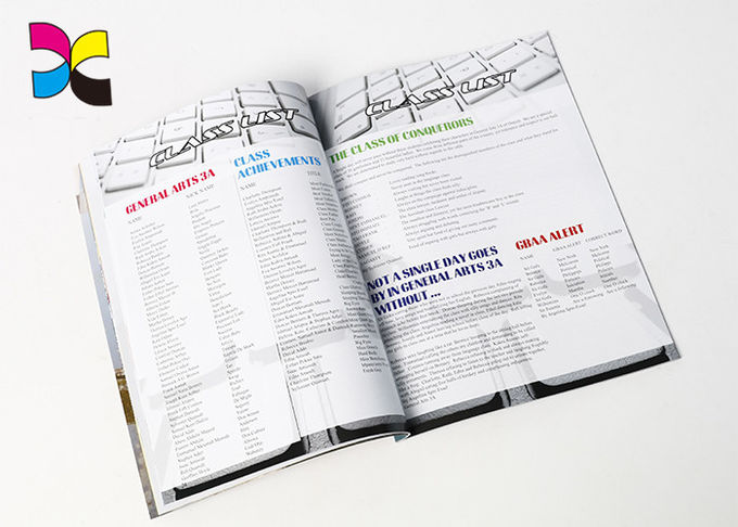 CMYK Custom Magazine Publishing A4 Laminated Coated Paper For Product Display