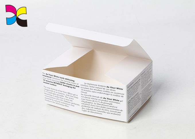 White Word Custom Printed Product Boxes Soap Small Simple Self Lock 128g Glossy