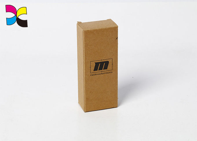 Kraft Paper Custom Packaging Boxes Print Black Simple Rectangle Cigarette Electronics