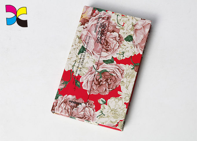 Flower Cover Custom Printed Notebooks 200 Pages Hot Stamping Matt Lamination