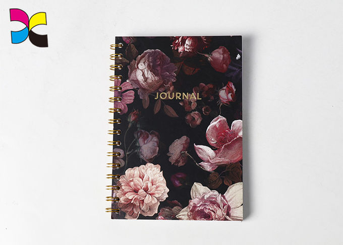 Coated Art Paper Spiral Notebook Printing Journey With Kraft Paper Back Cover