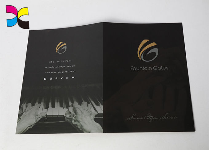 Environment - Friendly Printed File Folders With Pockets ,  Luxurious Restaurant Bill Folder